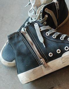 Golden Goose Black Canvas Sneakers