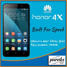 Experience the camera capture of 22mm wide angle lens and 4G connectivity on two networks all together in just a single phone - Huawei Honor 4X.