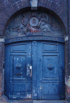 Blue Medieval Door, Copenhagen.