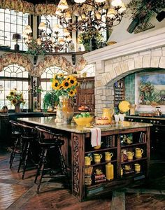 Tuscan design – Mediterranean Home Decor Tuscan Decorating, French Country Decorating, French Country Kitchens, Country French, French Farmhouse, Mediterranean Decor, Mediterranean House Plans, Tuscan House, French Decor
