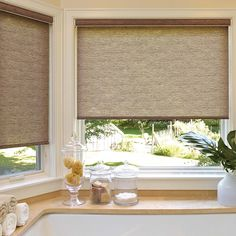 View our selection of light filtering roller shades that are both highly functional AND affordable: Bathroom Window Treatments, Bathroom Windows, Best Windows, Blinds For Windows, Element Lighting, Shade Grass, Budget Blinds, Light Filter, Shades Blinds