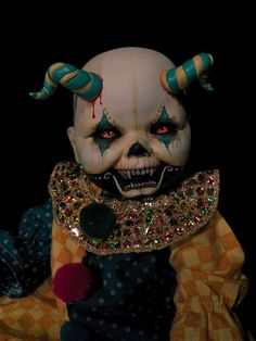 OOAK Krypt Kiddies clown Day of the Dead goth horror demon scary evil doll