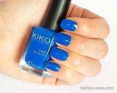 Review & Swatches nailpolish Kiko 336 Electric Blue