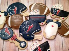Cookies made for a friend for her football themed baby shower!