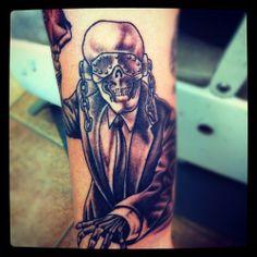 Vic Rattlehead RIP Megadeth Tattoo Rock Tattoo, Metal Tattoo, Tattoo You, Vic Rattlehead, Rock Legends, Metal Art, Tatting, Tattoo Ideas, Rocks
