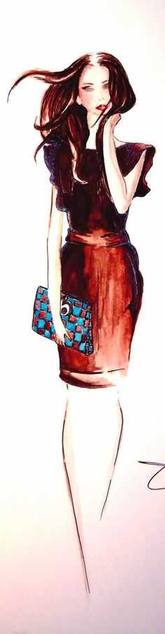 Fashion Illustration by Olivia Elery