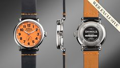 Love me some orange THE RUNWELL 40mm Orange dial / Web Exclusive | Shinola® $550.00