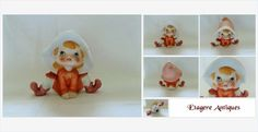 #Vintage Fairy Elf #Pixie Homco Ceramic #gotvintge #vintagedecor