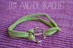 p.s.♡: diy: anchor bracelet