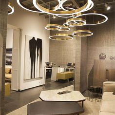 Modern and Sophisticated! The Ring pendant Lamp || Office Lighting | Ceiling Lights | Modern Lighting || #OfficeLighting #CeilingLights #ModernLighting www.ironageoffice.com More like this