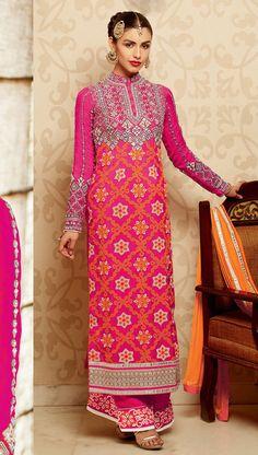 Fashionable #Pink Color Salwar Kameez Set