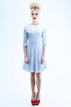 Baby blue Pierrot dress from Coco Fennell - couldn't love any other designer more than her.