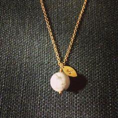 Gold Marple Necklace  925 S Sterling Silver w. 8-14 karet filled Gold & Howlit. #silver #sølv #smykkedesign #smykker #jewelry #andm