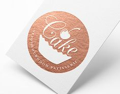 Cake Logo on Behance Baking Logo Design, Cake Logo Design, Bakery Design, Bakery Branding, Bakery Packaging, Bakery Logo, Baking Business, Cake Business, Business Logo