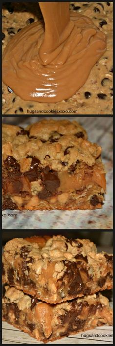 Toffee Peanut Butte Toffee Peanut Butter and Caramel. Toffee Peanut Butte Toffee Peanut Butter and Caramel Cookie Toffee Peanut Butte Toffee Peanut Butter and Caramel Cookie Bars - Hugs and Cookies XOXO Baking Recipes, Cookie Recipes, Dessert Recipes, Bar Recipes, Recipies, Just Desserts, Delicious Desserts, Yummy Food, Health Desserts