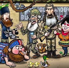 Cute cartoon of duck dynasty
