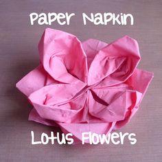 Paper Napkin Lotus Flowers