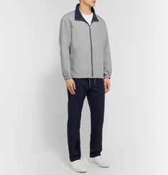 Club Monaco Reversible Matte-shell And Prince Of Wales Checked Woven Track Jacket In Gray Veja Sneakers, Mr Porter, Prince Of Wales, Club Monaco, Classic Style, Trousers, Mens Fashion, T Shirt, Jackets