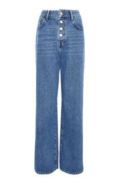 Blue Denim High Waist Button Up Wide Leg Jeans All Jeans, Girls Jeans, Wide Leg Jeans, High Waist Jeans, Primark, Jeans Bleu, Shorty, Girls Pajamas, Girls In Leggings