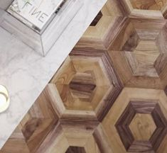 Amazing hexagonal pattern wooden panels in oak and walnut which you can use in living rooms, halls or even bedrooms. Wooden Flooring, Hardwood Floors, Hexagon Pattern, Entrance Hall, Living Rooms, Bedrooms, Amazing, Wood Flooring, Wood Floor Tiles