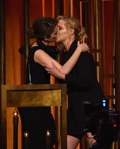 Tina Fey And Amy Schumer Made Out On A Stage And Liked It