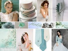 the perfect pallete: a palette of teal, dusty aqua, sky blye, silver and white