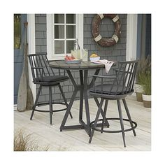 Union Round Pub High Dining Table | Crate and Barrel