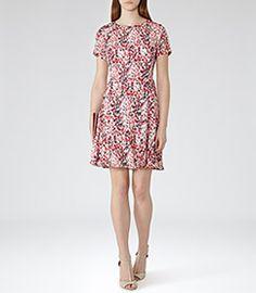 Womens Papaya Printed Dress - Reiss Marlas