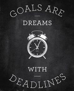 Ciele sú sny s deadlinami.