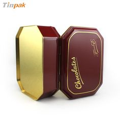 The chocolate metal tin is is 3-pc structure, including hinged lid, body and curl-outward bottom. http://www.tinpak.us/Products/CustomChocolateMetalTins.html