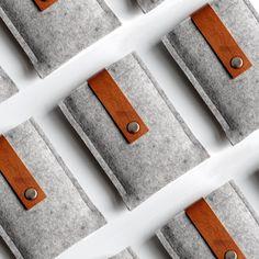 Beautiful #felt and leather ipad/iphone/laptop covers.