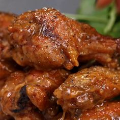 Featuring Baked Teriyaki Wings, Baked Honey Mustard Wings, Baked Buffalo Wings and Baked Garlic Herb Wings Honey Mustard Chicken Wings, Honey Mustard Salmon, Honey Mustard Sauce, Honey Wings, Mustard Recipe, Tzatziki, Baked Buffalo Wings, Chicken Recipes Video, Chicken Drummettes Recipes