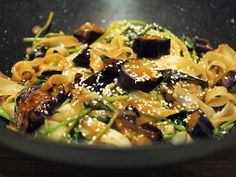 Miso Eggplant with Rice Noodles {vegan, dairy free, gluten free}