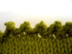 """Knitting article which gives directions for several decorative or """"different"""" cast offs--- """"my favorite being the picot edge!"""""""