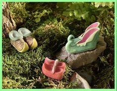 Glow In The Dark Elf Fairy Gnome Shoes Set Of 3 366