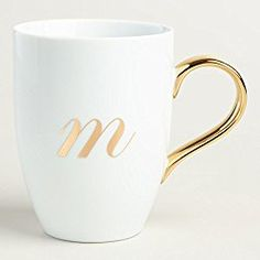 Custom Coffee Mugs Add Your Name, Text or Letters Personalized Ceramic Cups with Multiple Colors and Fonts Monogram Novelty Mug