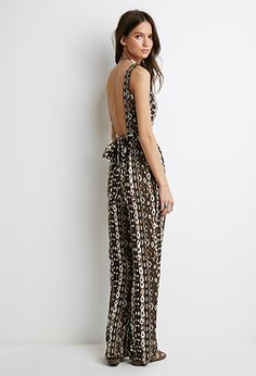 70afd55a500e Sharice JohnsonJumpsuits and rompers · Abstract Print Cutout Jumpsuit