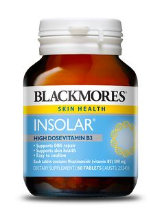 Blackmores Insolar - Blackmores Vitamin B3, Dna Repair, Higher Dose, Wound Care, Natural Supplements, Nutritional Supplements, Herbalism, Health, Pharmacy