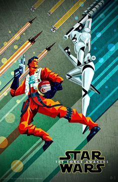 Star Wars: The Force Awakens DMR Hero's poster series