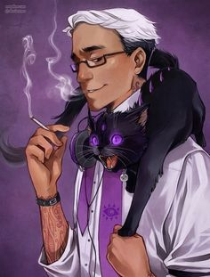 Cecil + Khoshekh: He is my boy. He is my buddy, and i love him so much. #nightvale