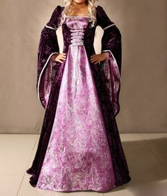 I like the idea of contrasting colours, and the lace-up front would provide an easy way to adjust the costume for each girl