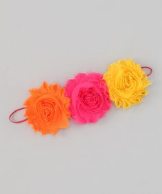 Take a look at this Yellow & Orange Shabby Flower Headband by Super Twirl & Sweet Tweet Bowtique on #zulily today!