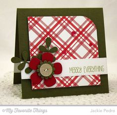 Jingle All the Way, Linen Background, Plaid Background Builder, Blueprints 14 Die-namics, Vertical Stitched Strips Die-namics - Jackie Pedro #mftstamps