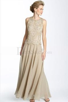 Extraordinary Two-piece Column Mother of the Bride Dress with Lavish Appliques