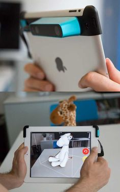 This Handy Gadget Turns Your iPad Into a Powerful 3D Scanner   #tech #technology #gadget #geek