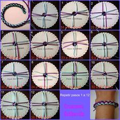 Kumihino XXXVII: Cordón redondo con zig zag longitudinal | Aprender manualidades es facilisimo.com