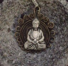 Nirvana Buddha Necklace by TriquetraBoutique on Etsy, $20.00