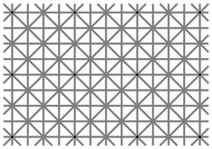 """There are twelve black dots at the intersections in this image. Your brain won't let you see them all at once."""