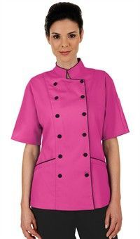 Women's Tailored Chef Coat with Piping Women's tailored fit short sleeve chef coat has a more tailored cut with adjustable back ties for fit. Chef Dress, Hotel Uniform, Staff Uniforms, Tailored Shorts, Work Fashion, Well Dressed, Coats For Women, Chef Jackets, Womens Fashion