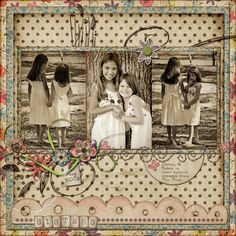 sisters - Scrapbook.com  The hand drawn doodles are great!